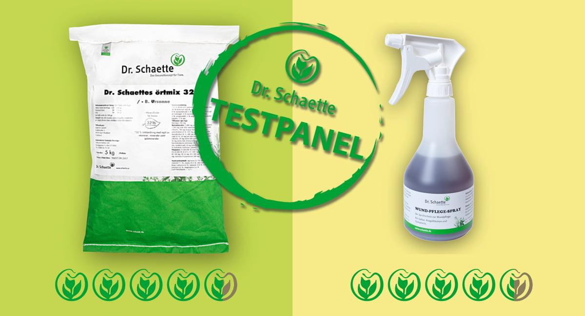 Testprodukter Örtmix 32% och Sårspray.